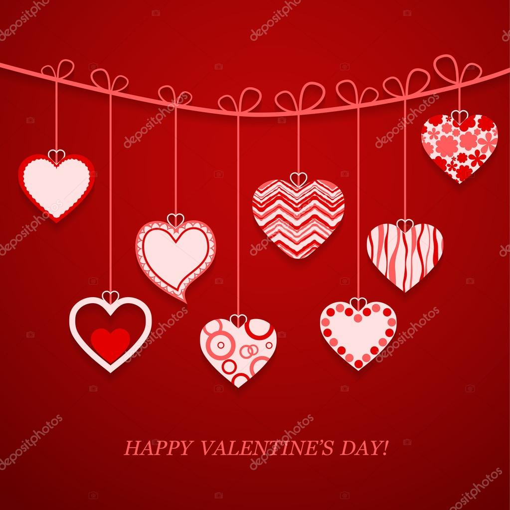Valentine's day postcard. Vector illustration. — Stock Vector #19851587