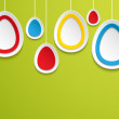Hanging easter eggs. - Stock Vector