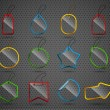 Royalty-Free Stock Imagen vectorial: Set of design glass elements.