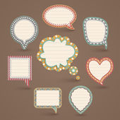 Vintage paper bubbles for speech. — Stock Vector