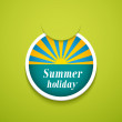Summer holiday sticker. — Stock Vector