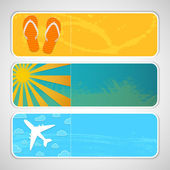 Summer banners. — Stock Vector