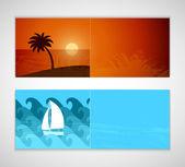 Bannières horizontales de l'été. — Vecteur