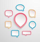 Bubbles for speech collection. — Stock Vector