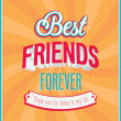 Best friends forever typographic design. — Stock Vector #30062549