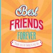 Best friends forever typographic design. — Stock Vector