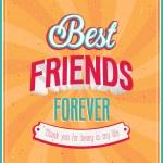 Best friends forever typographic design. — Stock Vector #30062549