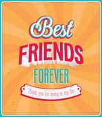 Best friends forever typographic design. — Stock Vector