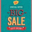 Stock Vector: Big sale typographic design.