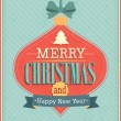 Merry Christmas typographic design. — Stock Vector #31253803