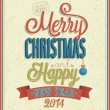 Merry Christmas typographic design. — Imagen vectorial