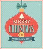 Merry Christmas typographic design. — Stock Vector