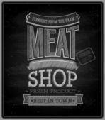 Meat shop - Chalkboard. — Stock Vector