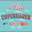 Vintage greeting card from Copenhagen - Denmark. — Stock Vector
