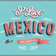 Vintage greeting card from Mexico - Mexico. — Stock Vector