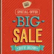 Big sale typographic design. — Stock Vector