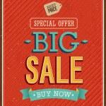 Big sale typographic design. — Stock Vector