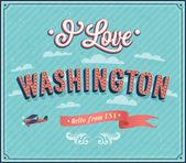 Vintage greeting card from Washington - USA. — Stock Vector