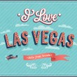 Vintage greeting card from Las Vegas - Nevada. — Stock Vector
