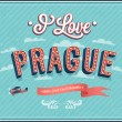Vintage greeting card from Prague - Czech Republic. — Stock Vector #32614325