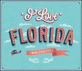 Vintage greeting card from Florida - USA. — Stock Vector