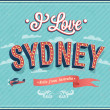 Vintage greeting card from Sydney - Australia. — Stock Vector #33148447