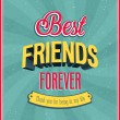 Stock Vector: Best friends forever typographic design.
