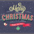 Stock Vector: Merry Christmas typographic design.
