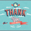 Stock Vector: Thank you typographic design.