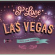 Greeting card from Las Vegas - Nevada. — Stock Vector