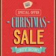 Stock Vector: Christmas sale typographic design.