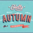Stock Vector: Hello autumn typographic design.