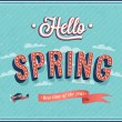 Stock Vector: Hello spring typographic design.
