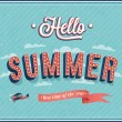 Hello summer typographic design. — Stock Vector
