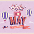 Stock Vector: Hello may typographic design.
