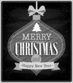 Merry Christmas - Chalkboard. — Stock Vector