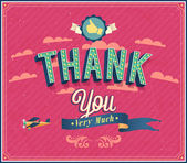 Thank you typographic design. — Stock Vector