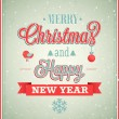 Merry Christmas and Happy New Year typographic design. — Stock Vector