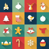 Set of Christmas and New Year objects. — Stock Vector