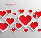 De dag van valentijnskaarten abstracte achtergrond. — Stockvector