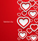 Valentines day abstract background. — Stock Vector