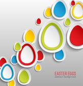 イースター卵抽象的なカラフルな背景. — ストックベクタ