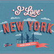 Vintage greeting card from New York - USA. — Stock Vector #42958695