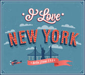 Vintage greeting card from New York - USA. — Stock Vector