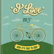 Vintage background with bicycle. — Stock Vector