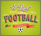 Fußball-abstrakt. — Stockvektor