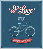Vintage background with bicycle. — Stockvector