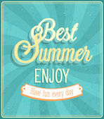 Best Summer Enjoy typographic design. — Stock Vector