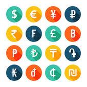 Money icons set. — Stock Vector