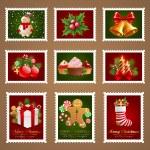 Christmas postage. — Stock Vector #8099097